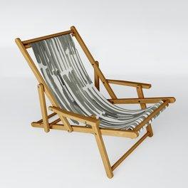 Simply Bamboo Brushstroke Green Tea on Lunar Gray Sling Chair