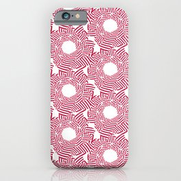 Candy cane flower pattern 8 iPhone Case