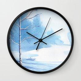Winter Landscape 06 Wall Clock