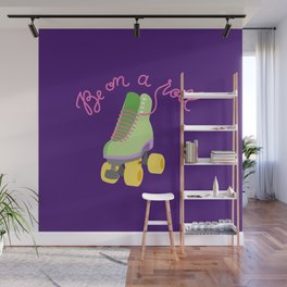 Be On A Roll (Purple Background) Wall Mural
