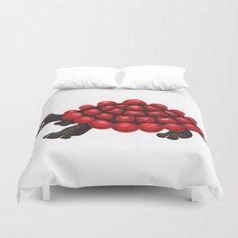 Red and black tortoise Duvet Cover