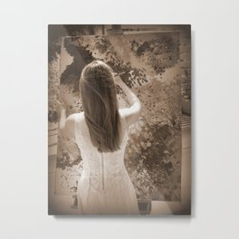 the artist's phone cover Metal Print