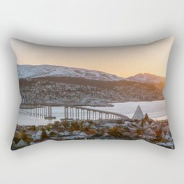 Sunset at Tromsø, Norway || Travel photography mountain architecture lapland winter scandinavia  Rectangular Pillow