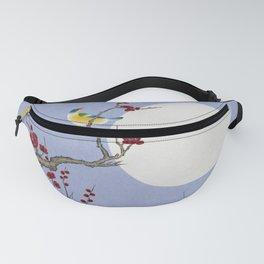 Plum blossoms, bird and the moon Type F (Minhwa: Korean traditional/folk art) Fanny Pack