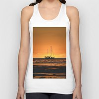 sailboat Tank Tops featuring Sailboat  by GG's photography.
