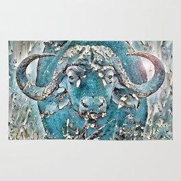Turquoise Buffalo Rug
