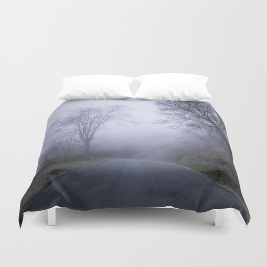 """Mountain road"". Into the woods. Duvet Cover"