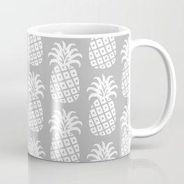 Mid Century Modern Pineapple Pattern Grey Coffee Mug
