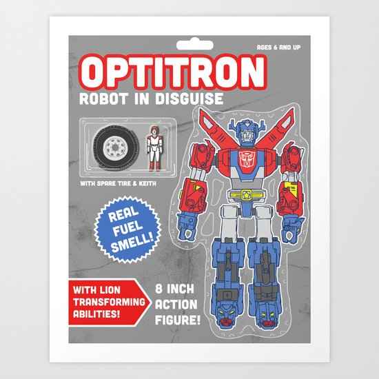 Optitron: Robot in Disguise Art Print