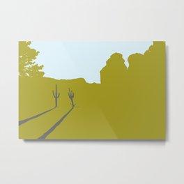 Two Cacti Metal Print