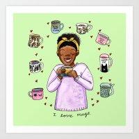 I love mugs Art Print