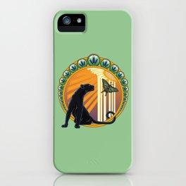 Jaguar Flowers Art Deco iPhone Case