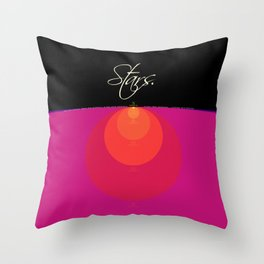 Stars and Suns Comparison Throw Pillow