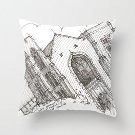 Oa[k]cliff Temple Throw Pillow