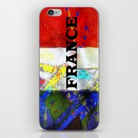 france iPhone & iPod Skins featuring FRANCE by Brian Raggatt