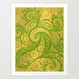 Green Shell Art Print