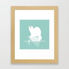 Polar bear in trouble Framed Art Print