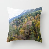 forrest Throw Pillows featuring Forrest  by Veronika