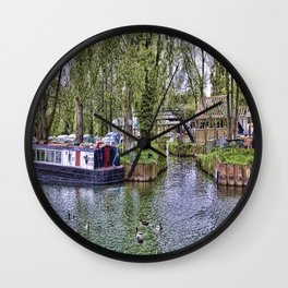 River Barge Wall Clock