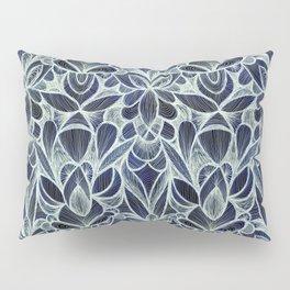 Ballpoint Pattern in Indigo Pillow Sham