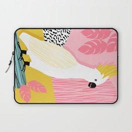 FeelFree - memphis throwback retro bird tropical nature animal parrot cockatoo 1980s 80s pop art Laptop Sleeve
