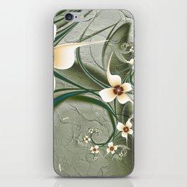 Fractal Doodadling with Flowers iPhone Skin