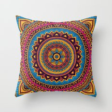 Hippie Mandala 19 Throw Pillow