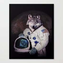 Wolfy goes to Mars Canvas Print