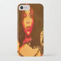 erykah badu iPhone & iPod Cases featuring Erykah Badu  by Paintings That Pop