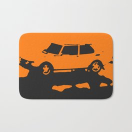 Saab 99 EMS, Orange on Black Bath Mat