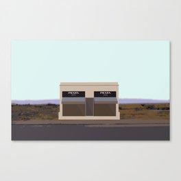 Marfa Installation: A digital illustration Canvas Print