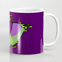 gore Mugs featuring Techno bird gore by bladedcrow