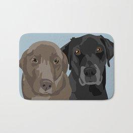Two Labradors Bath Mat