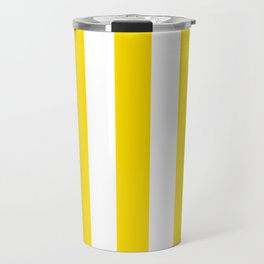 Philippine golden yellow - solid color - white vertical lines pattern Travel Mug
