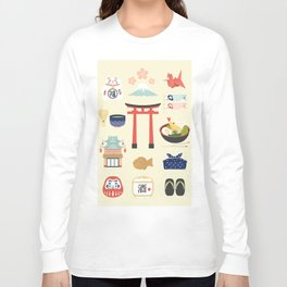 Japan Icons Illustration : PAST Long Sleeve T-shirt