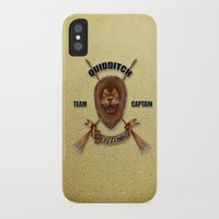 gryffindor iPhone & iPod Cases featuring Gryffindor Quidditch Team Captain by JanaProject