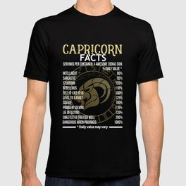 CAPRICORN Awesome Zodiac Sign - CAPRICORN Facts T-Shirt T-shirt