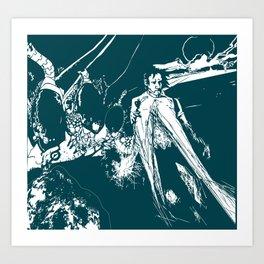 A dark prince Art Print