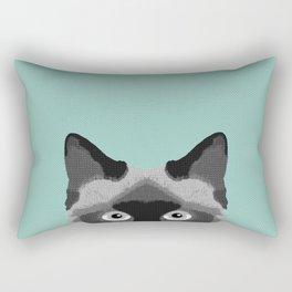 Ezra - Siamese Cat, Cute Kitten Retro Cat Art cell phone case, siamese, cute cat Rectangular Pillow