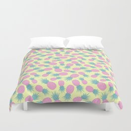 Pink pastel pineapple Duvet Cover