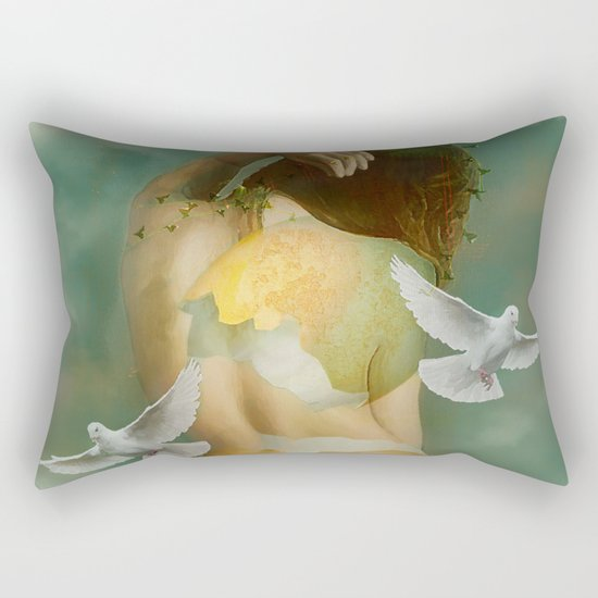 Hatching Rectangular Pillow