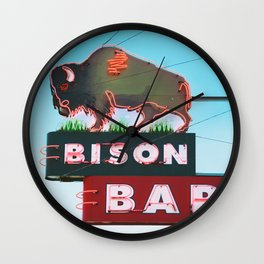 The Bison Bar Wall Clock