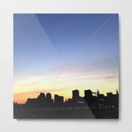 Sunset Over New York City Metal Print