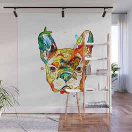 Colorful french bulldog Wall Mural