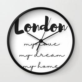 London Print Wall Clock