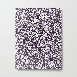 Small Spots - White and Dark Purple Metal Print