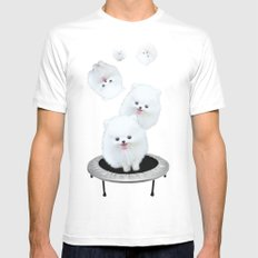 Launch Pad White MEDIUM Mens Fitted Tee