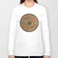 tree rings Long Sleeve T-shirts featuring tree rings by Asja Boros