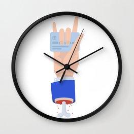 Deadman's credit card Wall Clock
