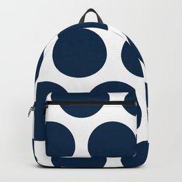 Large Polka Dots: Navy Blue Backpack